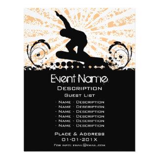 Promoção do evento do Snowboard Panfletos