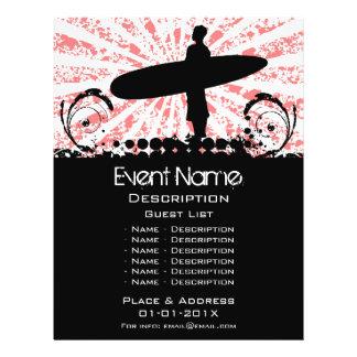Promoção do evento do surf flyer 21.59 x 27.94cm