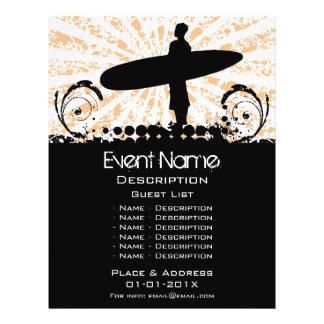 Promoção do evento do surf panfleto personalizados