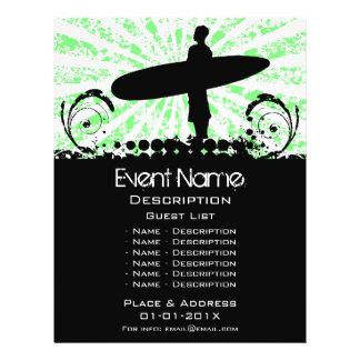 Promoção do evento do surf panfleto