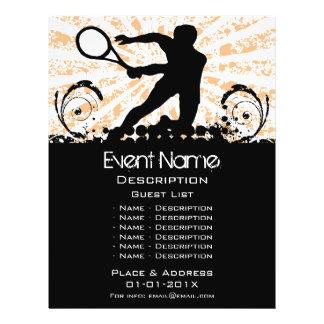 Promoção do evento do tênis flyer 21.59 x 27.94cm