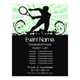 Promoção do evento do tênis panfleto personalizados