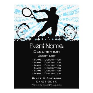 Promoção do evento do tênis panfleto coloridos