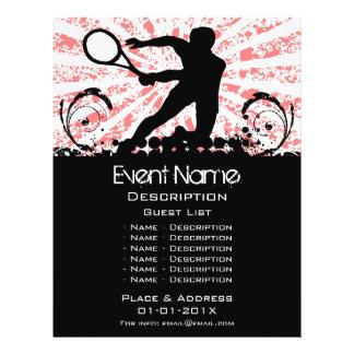 Promoção do evento do tênis