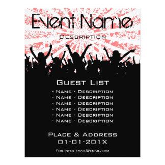 Promoção do evento panfletos personalizados