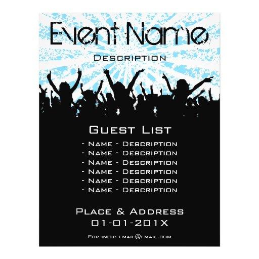 Promoção do evento modelo de panfleto