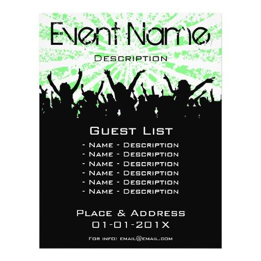 Promoção do evento panfleto personalizados