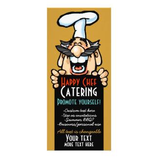 Promoção Menu.Chef.Customizable do negócio de rest 10.16 X 22.86cm Panfleto
