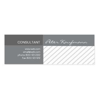 Promoção moderna profissional listrada cartão de visita skinny