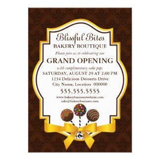 Promocional da casa aberta da grande inauguração d convite personalizados