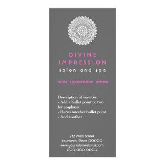 Promocional divino do rosa da impressão panfleto informativo personalizado