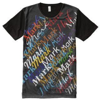 promova seu nome ou marque-o camisetas com impressão frontal completa