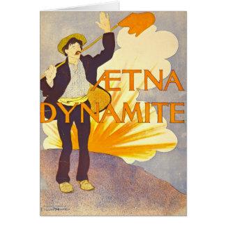 Propaganda 1895 da dinamite do vintage cartão comemorativo