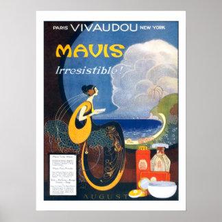 Propaganda 1920 do perfume de Mavis do art deco do Posters