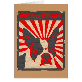Propaganda Boston Terrier Cartão Comemorativo