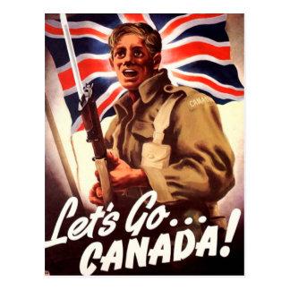 Propaganda canadense da guerra cartão postal