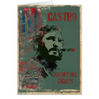 Propaganda Castro de Cuba Cartão Comemorativo