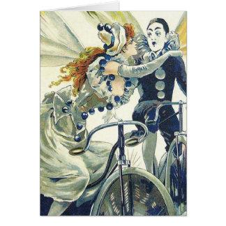 Propaganda da bicicleta do vintage - ciclismo cartão comemorativo