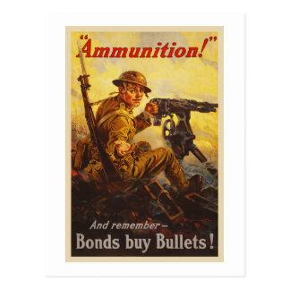Propaganda da munição WWI das ligações de guerra Cartão Postal