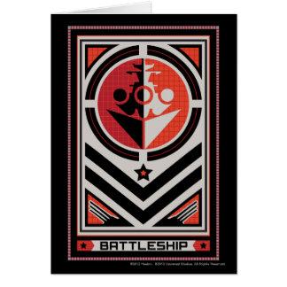 Propaganda da navio de guerra cartão comemorativo