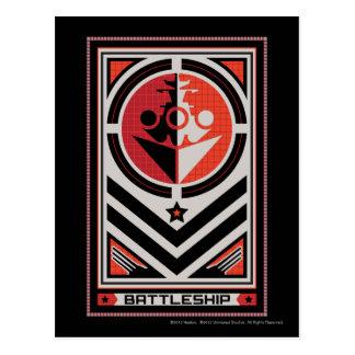 Propaganda da navio de guerra cartão postal