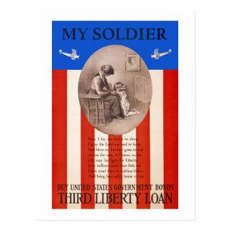 Propaganda da oração WWI do empréstimo da Cartão Postal