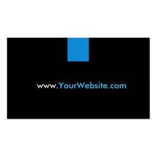 Propaganda da promoção do Web site - estilo azul Cartão De Visita