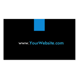 Propaganda da promoção do Web site - estilo azul Cartões De Visitas