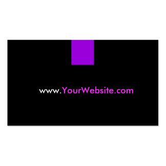 Propaganda da promoção do Web site - estilo roxo Cartão De Visita