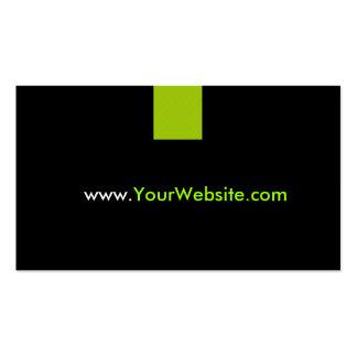 Propaganda da promoção do Web site - estilo verde Cartão De Visita