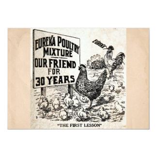 Propaganda das galinhas do vintage