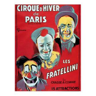 Propaganda de poster 'o d'Hiver da Paris de Cirque Cartão Postal