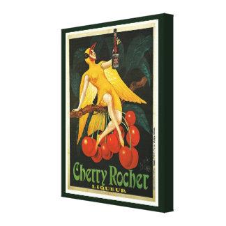 Propaganda de Rocher da cereja do vintage Impressão Em Tela