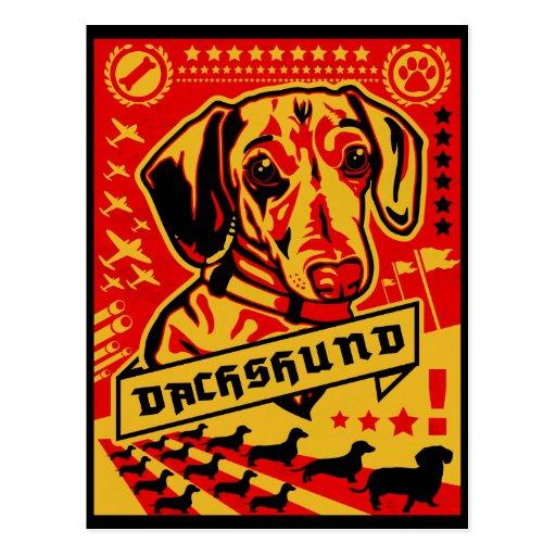 Propaganda do Dachshund Cartao Postal