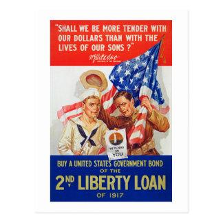Propaganda do empréstimo 1917 WWI da liberdade das Cartão Postal