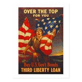 Propaganda do empréstimo WWI da liberdade das Cartão Postal