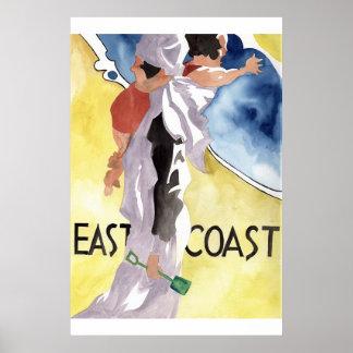 Propaganda do estilo de Deco do Watercolour Poster