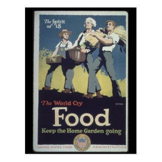 Propaganda do fazendeiro da comida do vintage para cartoes postais