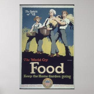 Propaganda do fazendeiro da comida do vintage para posters