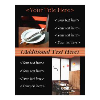 Propaganda do restaurante insecto feitos sob modelo de panfletos