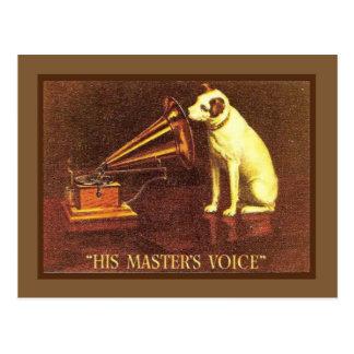 Propaganda do vintage, a voz do seu mestre, cartão postal