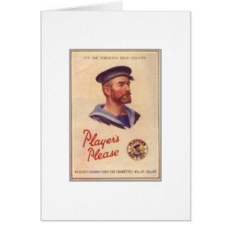 Propaganda do vintage cartão comemorativo