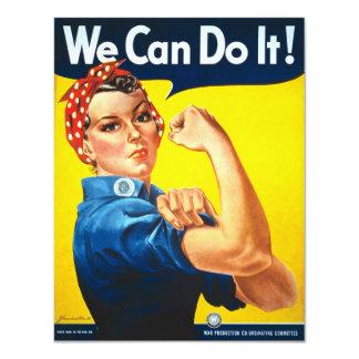 Propaganda do vintage do rebitador de Rosie Convite 10.79 X 13.97cm