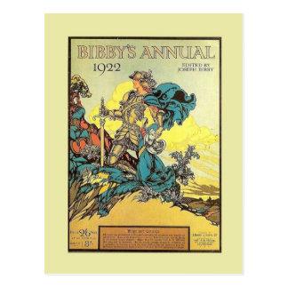 Propaganda do vintage, o anuário 1922 de Bibby Cartoes Postais