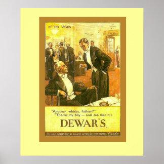 Propaganda do vintage, o uísque escocês do vaso poster
