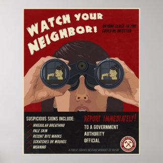 Propaganda do zombi poster