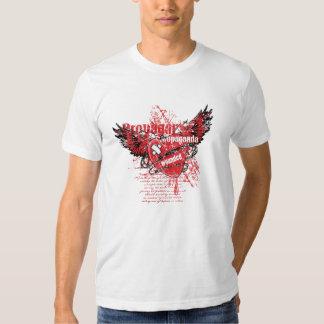 Propaganda ferida camiseta