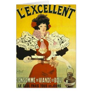 Propaganda francesa 1895 da sopa cartão comemorativo