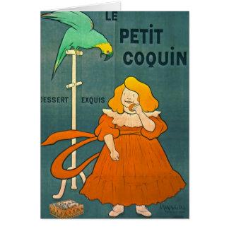 Propaganda francesa 1900 do vintage cartão comemorativo