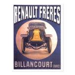 Propaganda francesa do automóvel de Renault Freres Cartões Postais